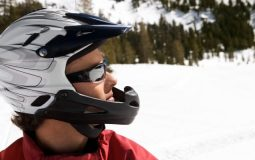 open face snowmobile helmet